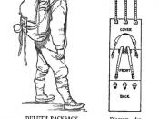 English: 19th century knowledge hiking and camping duluth pack sack