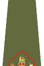 English: Regimental Sergeant Major Insigna of British Army (Warrant Officer Class One) Français : Grade d'adjudant chef de la British Army (sous-officier)