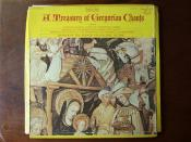 A Treasury of Gregorian Chants - Trappist Monks Cistercian Abbey, Benedictine Abbey en Calcat & Wandrille de Fontenelle Monastery 4Lp