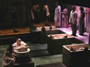 "Theatre production of Peter Weiss' ""The Persecution and Assassination of Jean-Paul Marat as Performed by the Inmates of the Asylum of Charenton Under the Direction of the Marquis de Sade"" (""Marat/Sade"") at the University of California, San Diego, May 2005"
