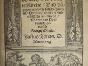 Woodcut architectural and historiated (Heracles and the Nemean lion) title border used by Georg Rhaw of Wittenberg