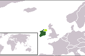 English: Location of the Irish Free State in Dark Green Claimed Territory of the Irish Free State in Light Green.