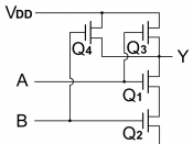 English: NAND gate (CMOS circuit).