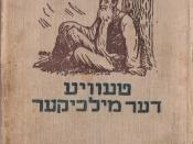 Cover of a Soviet edition of Tevye der milkhiker