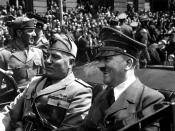 Adolf Hitler and Benito Mussolini in Munich, Germany, ca. 06/1940