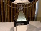 The trophy was displayed at Atlanta Press Club, September 2009.