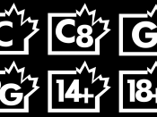 Canadian TV Ratings: C, C8, G, PG, 14+, and 18+