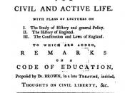 Title page from Joseph Priestley's Essay on a Course of Liberal Education for Civil and Active Life