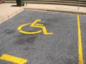 English: A disabled parking place in Torrens. Taken by me on 20th January 2007. Category:Images of Canberra