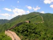 English: The Great Wall of China, near Beijing in July 2006. This is a section of Mutianyu.