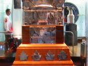 Hextall's play in his rookie year in the NHL saw him awarded both the Vezina Trophy and the pictured Conn Smythe Trophy.