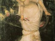 Waterhouse's The Lady of Shalott Looking at Lancelot