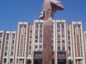 At least I think it is Lenin, but for all I know it could be Stalin too. In Tiraspol, Transnistria, Moldova.