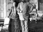 Empress Maria Fyodorovna and her husband Tsar Alexander III vacationing in Copenhagen in 1893