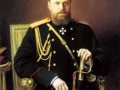 Portrait of Alexander III (1845-1894), the Russian Tsar, oil on canvas