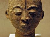 :The Metropolitan Museum of Art :Memorial Head (Mma), 17th century :Ghana; Akan :Terracotta, roots, quartz fragments; H x W x D: 8 x 5 5/8 x 5 in. (20.3 x 14.3 x 12.7 cm) :The Metropolitan Museum of Art, New York, The Michael C. Rockefeller Memorial Colle