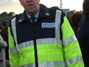 An Irish police officer, garda