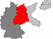 Germany defeated: Per the Potsdam Conference, the Allies jointly occupied Germany west of the Oder-Neisse line.
