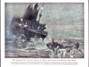 Sinking of the Titanic, drawn from wireless description
