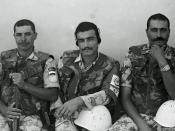 Egyptian soldiers served with the United Nations peacekeeping mission in Mogadishu, Somalia (January 1994). Photo by Peter Rimar.