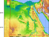 Topographic map of Egypt. Created with GMT from SRTM data.