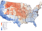 English: Per capita thyroid doses in the continental United States of Iodine-131 resulting from all exposure routes from all atmospheric nuclear tests conducted at the Nevada Test Site. 日本語: アメリカ国立癌研究所、「ネバダ核実験のI-131の甲状腺被曝推定」1997年