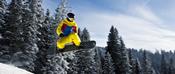 English: Snowboarder in Tannheim, Austria. Français : Un snowboardeur. Photo prise à Tannheim, en Autriche.