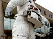 Space Statue at the Gerald R. Ford Presidential Museum in Grand Rapids, Michigan