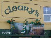 Cleary's, 128 Moseley Street, Highgate - pub sign