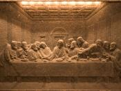 Wieliczka salt mine - The Last Supper made in salt