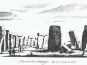 Drawing of Stonehenge take from William Stukeley's book