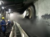 Underground Longwall mining.
