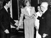 Italiano: Il Presidente della Repubblica Sandro Pertini riceve i Principi di Galles durante la loro vacanza in Italia.