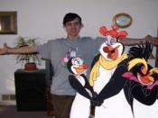 My penguin family, Hubie, Rocco, and Marina.