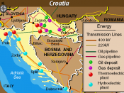 Economic Activity Map of Croatia from the Balkans Regional Atlas