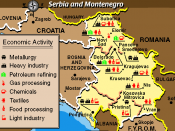 Economic Activity Map of Serbia Montenegro from the Balkans Regional Atlas