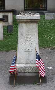 English: Paul Revere Memorial, Granary Burying Ground, Boston, Massachusetts
