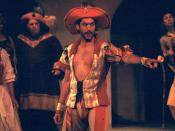 English: Petruchio (Kevin Black) in his wedding outfit, in a Carmel Shakespeare Festival production at the outdoor Forest THeater in Carmel, CA, Oct., 2003