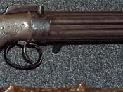 English: Pepper-box pistol used by Joseph Smith, Jr. in an attempt to defend himself at Carthage (Illinois) jail on June 27, 1844. Currently displayed in the Church History Museum, Salt Lake City, Utah.
