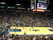 A Minnesota Timberwolves game at Target Center.