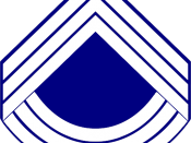 English: US Sergeant Major rank insignia in infantry white