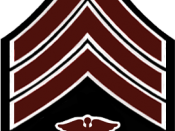 English: US Sergeant rank insignia in Hospital Corps maroon and white - 1902 change