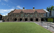 English: The West Facade of Memorial Hall, Melbourne Grammar School