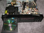 English: An early Denon DCD-1700 CD player made in the 1980's. This particular model was considered high-end for its time.