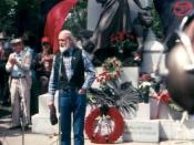 Waldheim Cemetery, Chicago in May 1986 during ceremonies commemorating the 100th anniversary of the Haymarket affair.