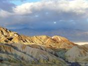 English: Panorama of Zabriskie Point, located in Death Valley National Park, California, United States