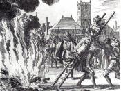 Deutsch: Feuerhinrichtung von Anneken Hendriks in Amsterdam 1571 Français : Supplice de Anne Hendricks, brulé à Amsterdam en 1571