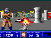 Although it was not the earliest shooter game with a first-person perspective, Wolfenstein 3D is often credited with establishing the first-person shooter genre.