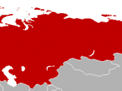 Map of the Warsaw Pact countries