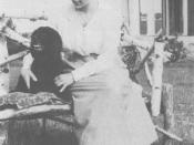 English: Hazel Rutherford and dog Bunty